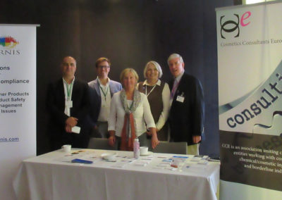 CCE booth with Annemie, Annelie, Alex, Robert & Steven - Cosmetics Europe - June 2018