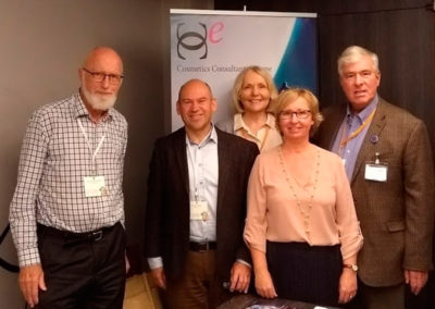 CCE represented (Annemie, Jorgen, Remco, Annelie & Steven at Cosmetics Europe's Science Conference - 26-27 Oct. 2017